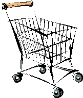 Drawing of a grocery cart.