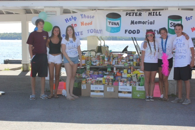Volunteers at the Fourth Annual Peter Hill Memorial Food Drive