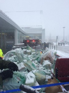 Boatload of groceries donated to Manna on snowy December Saturday.