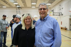 Volunteer drivers picking up their route information