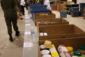 Sorting donated food for Manna