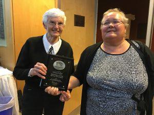 Sam & Lu and volunteer award