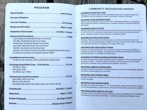 Community Recognition Awards 2018 Program